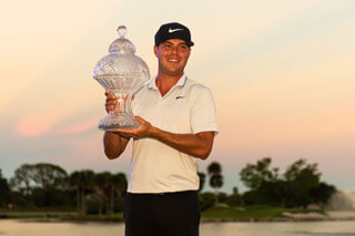 Keith Mitchell with Honda Classic trophy