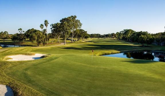 The green at The Fazio Golf Course