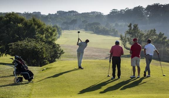 Golf Group at the tee box